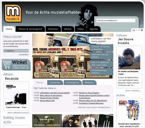 Muziek.nl legt muziekliefhebbers in de watten