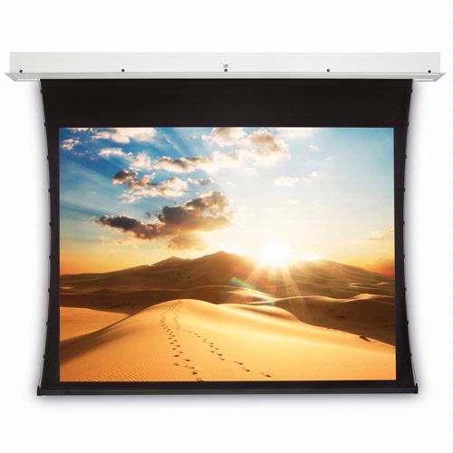 De tab-tensioned versie van de Projecta Electrol garandeert een vlak en strak projectie-oppervlak.