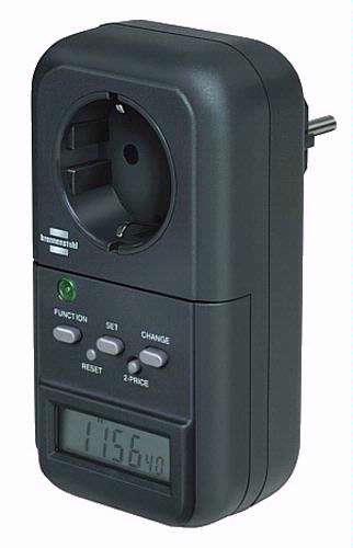 Een eenvoudige energiemeter, zoals de Brennenstuhl PM 230,volstaat om het verbruik van de meeste toestellen te meten.