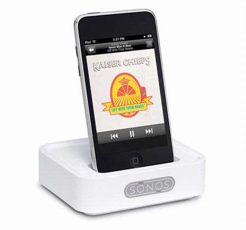 Met de Sonos WD100 Wireless Dock stream je muziek vanaf de iPod/iPhone naar elke kamer waar een ZonePlayer staat.