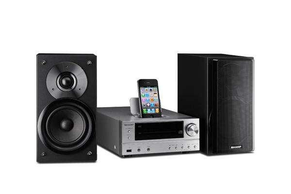 Sharp stereosets op maat van iPod
