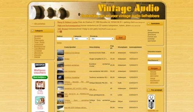 Vintageaudio.be zoekertjessite van start