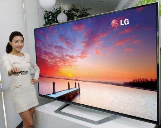 LG toont tijdens de CES-beurs begin januari een 84 inch-tv met een superhoge resolutie.