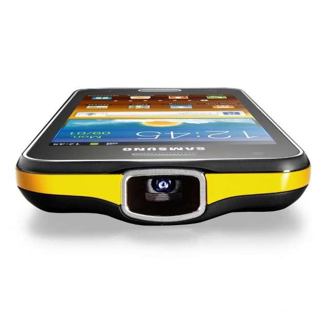 Samsung kondigde tijdens het Mobile World Congress een Galaxy-smartphone met ingebouwde projecter aan.