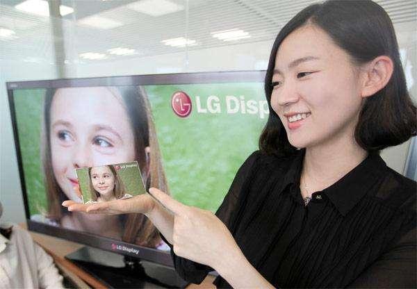 LG toont smartphonescherm met 1080p-resolutie