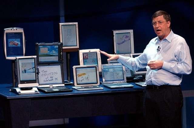 Bill Gates was in 2001 overtuigd dat tablets de toekomst waren van de pc, al zou het nog jaren duren voor zijn droom werkelijkheid werd.