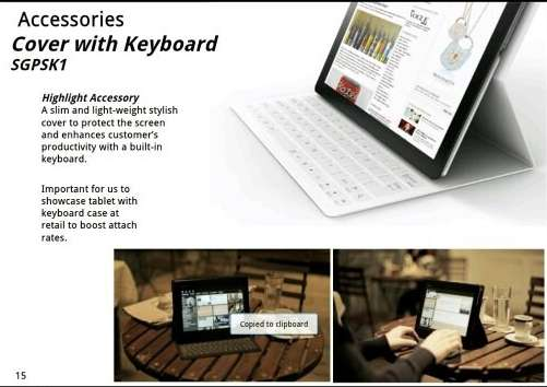 Lekken over nieuwe Sony-tablet