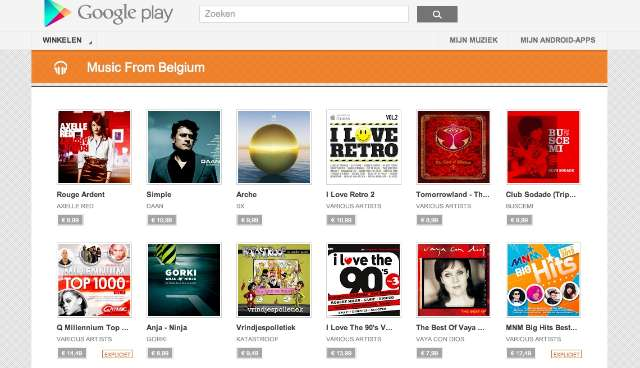 Google start Belgisch alternatief voor iTunes