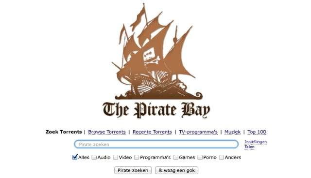 Blokkade The Pirate Bay heeft geen zin