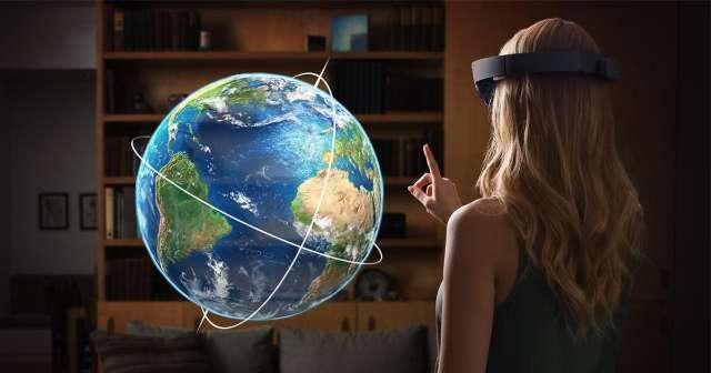 HoloLens van Microsoft voorziet je omgeving van holografische projecties in 3D