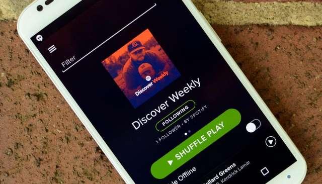 Spotify personaliseert afspeellijsten