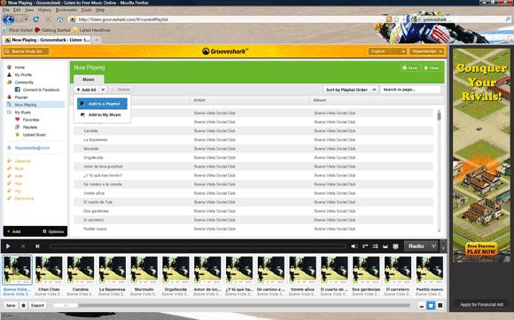 Streaming met Grooveshark