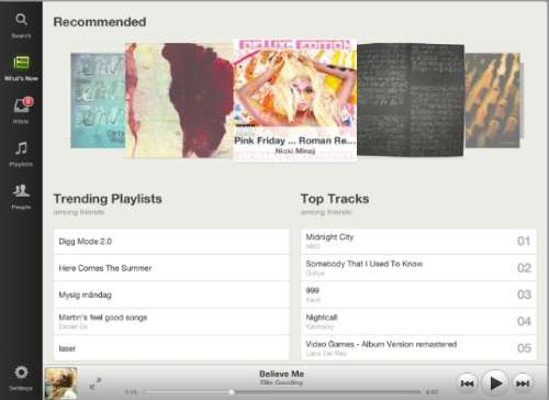Spotify lanceert iPad app.