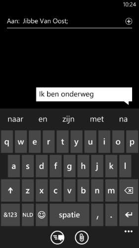 zinsvoorspelling in Windows Phone 8.