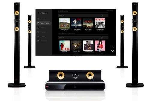 Spotify nu ook op homecinemasets van LG