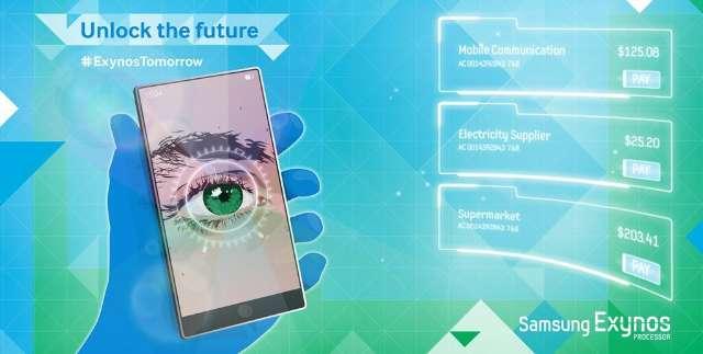 Irisscanner op Samsung-smartphone