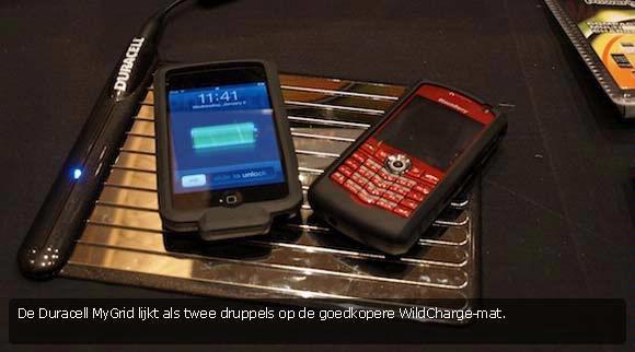 CES: Draadloos opladen van je gadget