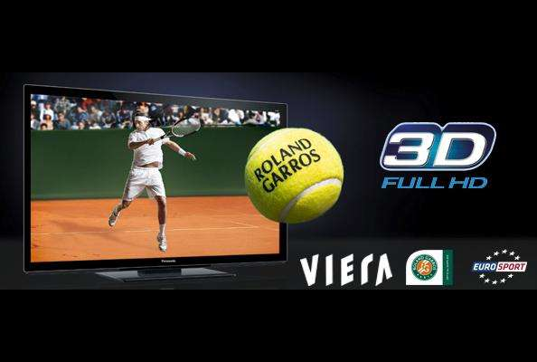Roland Garros in 3D op tv