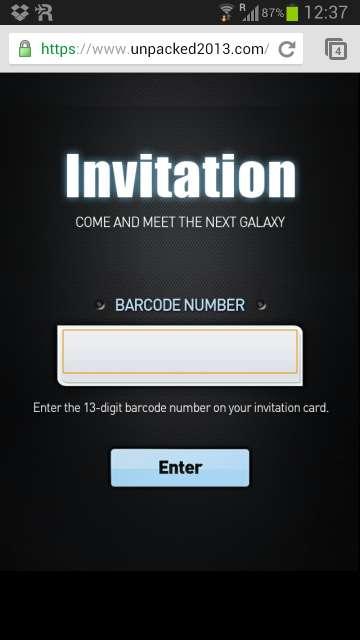 Galaxy S VI uitnodiging