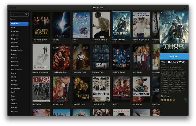Mediaspeler streamt torrent-films onmiddellijk