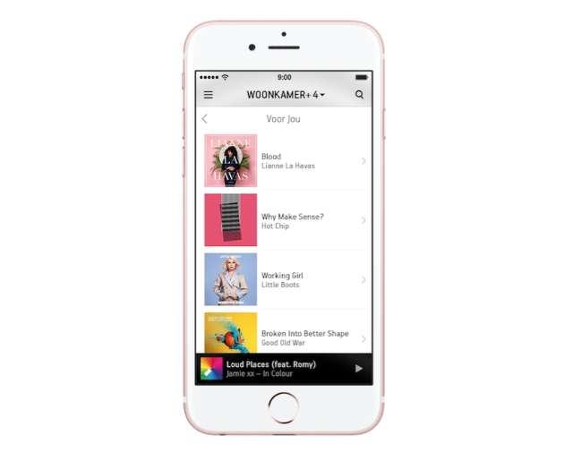 Sonos speelt Apple Music af