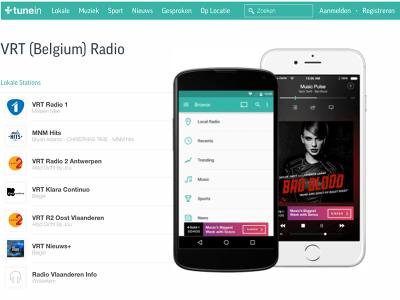 VRT-radiostations opnieuw via TuneIn