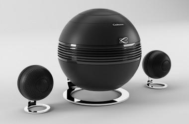 Cabasse Pearl Keshi: 2.1-systeem van bolvormige actieve luidsprekers met streaming
