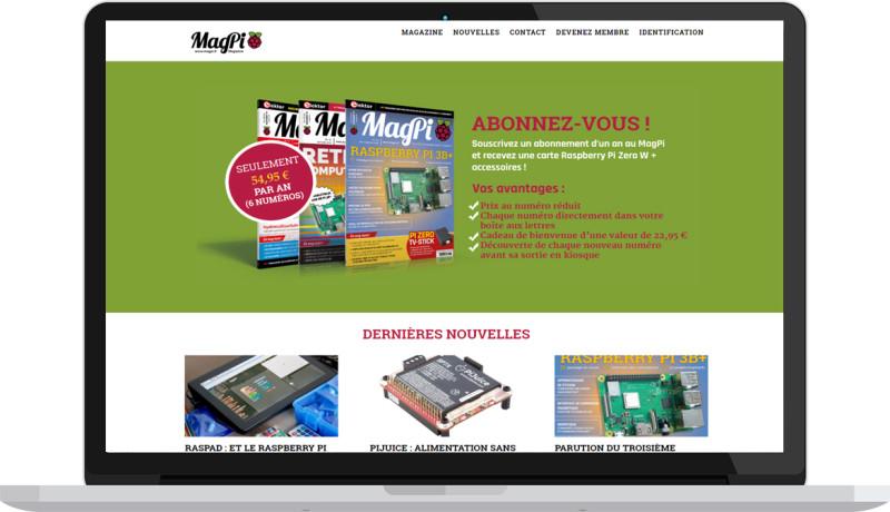 Le site du MagPi a fait peau neuve