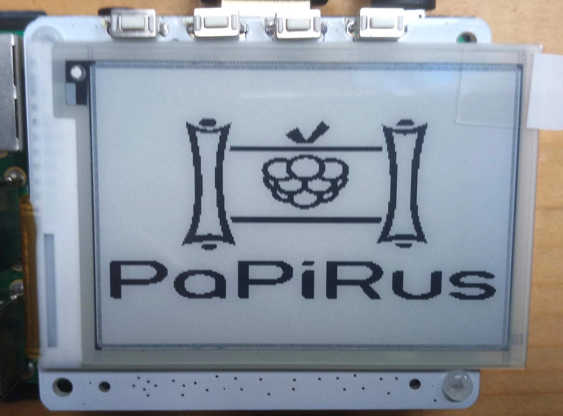 Review Papirus Epaper Screen Hat Voor De Raspberry Pi Layoutpage