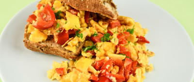 No waste: Scrambled eggs