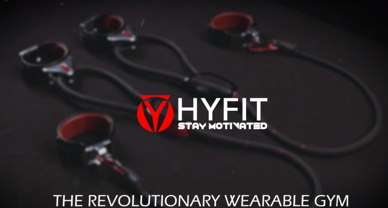 Hyfit Wearable Gym is een draagbare sportschool met activity tracker