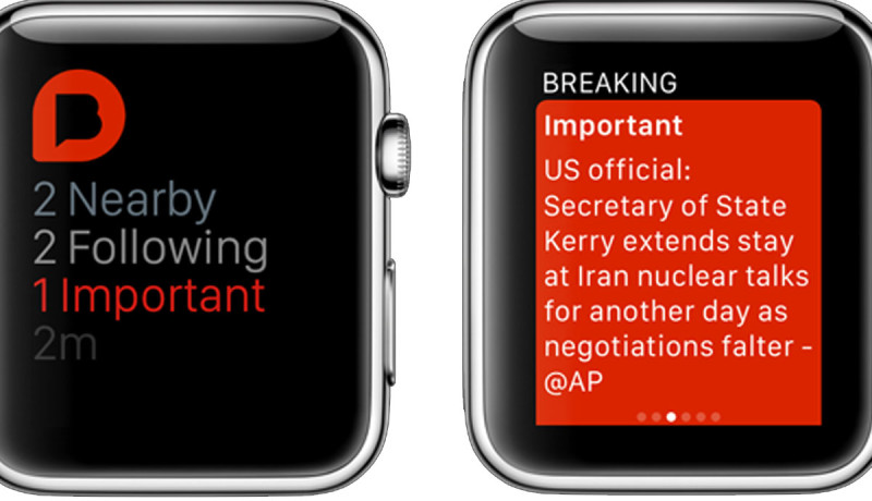 Breaking News is een Apple Watch-app voor brekend nieuws