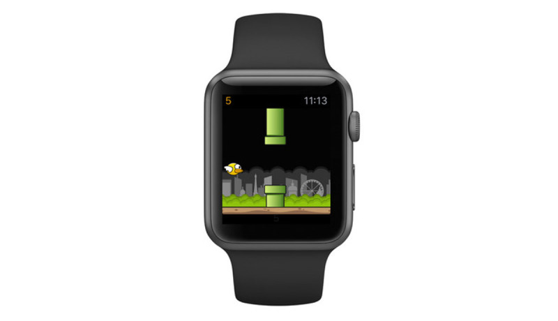 Flappy Bird-kloon Birdie nu te spelen op Apple Watch