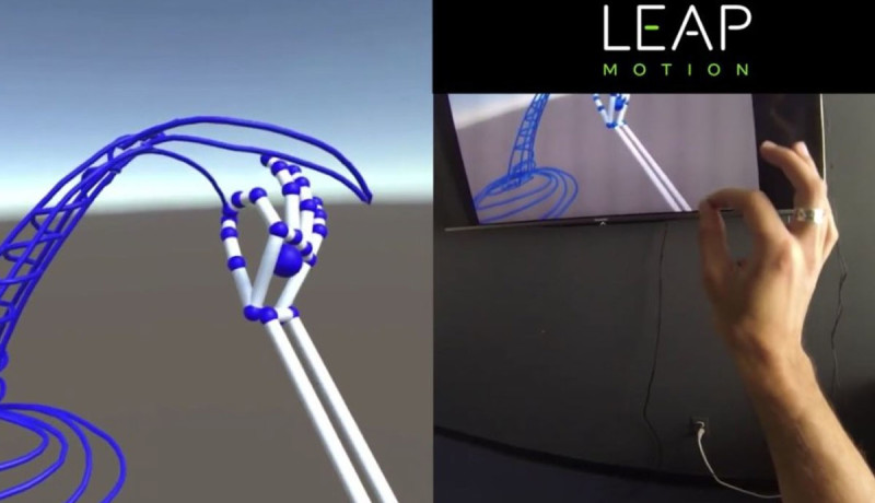 Handtracker van Leap Motion te zien in demovideo