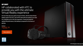 'HTC en HP werken samen aan HTC Vive-laptop'